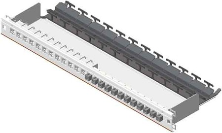 Nexans Patch-Panel o.Schublade 24f. leer, m.Clip-On N521.661