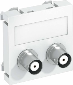 OBO Bettermann Vertr Multimediaträger Audio-BNC 45x45mm alu lack