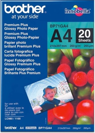 Brother Fotopapier A4 20 Blatt BP-71GA4