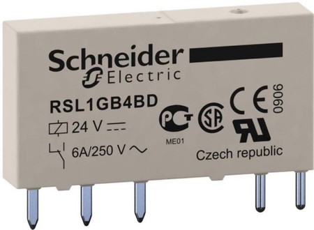 Schneider Electric Relais Slim 24V 1W Gold 6A RSL1GB4BD