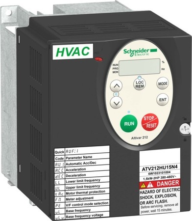Schneider Electric Frequenzumrichter 30KW 460V 3PH,IP20 ATV212HD