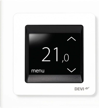 Devi UP-Uhrenthermostat 16A 230V devireg Touch m.Rahm