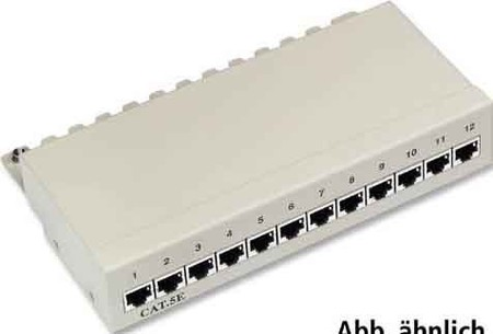 EFB-Elektronik Mini-Patch-Panel 8xRJ45S, Cat5e 37650.2