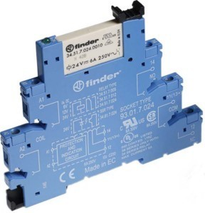 Finder Koppelrelais 1W, 6A, 125VAC 38.51.3.125.0060