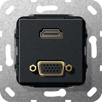 Gira HDMI VGA Gender Changer sw matt 567610