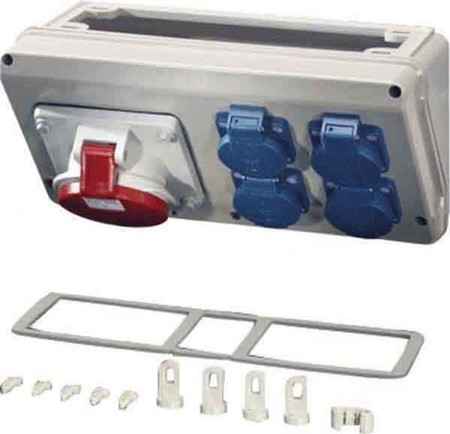 Hensel Mi Connection Box 32A,5p,400V,6h Mi CB 17