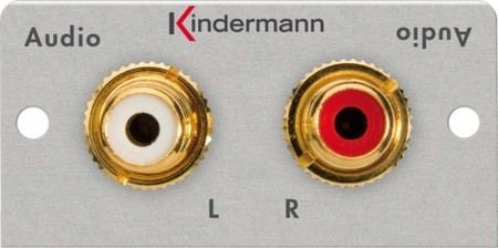 Kindermann Anschlussblende Audio,2xCinch 7444000510
