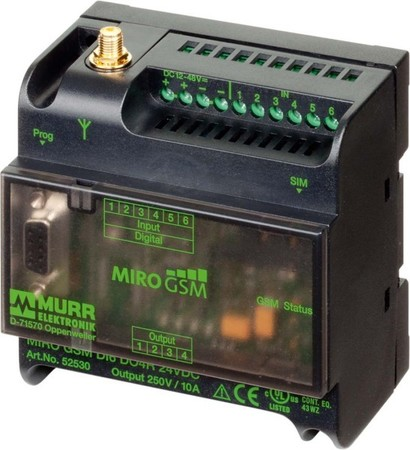 Murrelektronik MIRO GSM DI6 DO4R 24VDC 52530