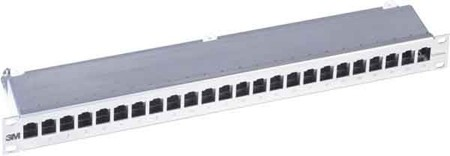 3M Telecommunications Patchpanel 24Ports 1HE K6 RJ45,Cat.6 43018