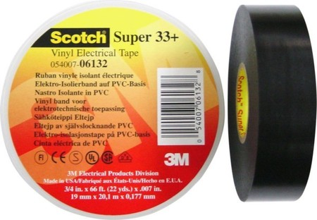 3M Deutschland PVC Elektro-Isolierband 19 mm x 20 m, sw ScotchSu