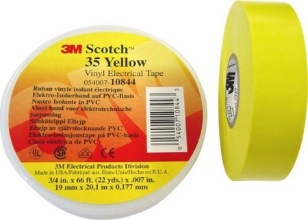 3M Deutschland PVC Elektro-Isolierband 19 mm x 20 m, gelb Scotch