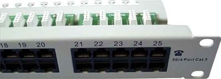 Setec ISDN Patchpanel o.Beipack grau PP50 B Kat3 RAL7035