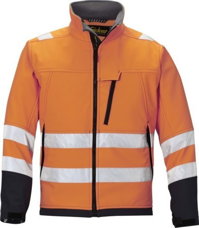Hultafors (Snickers) High Vis Softshell Jacke or, Gr.M Regular 1