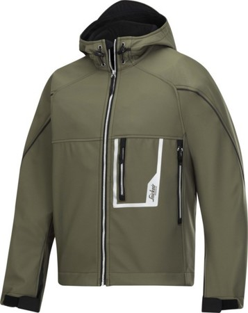 Hultafors (Snickers) Softshell Jacke olive mit Kapuze, Gr.XS 121