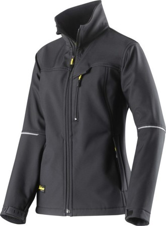 Hultafors (Snickers) Damen SoftShell Jacke sw, Gr.L Regular 1227
