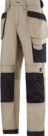 Hultafors (Snickers) Bundhose Canvas+ m. HP khaki, Gr.252 321420