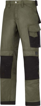 Hultafors (Snickers) DuraTwill Hose olive, Gr.58 33123204058