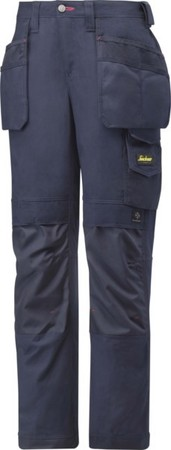 Hultafors (Snickers) Damenhose Canvas+ m. HP navy, Gr.40 3714959
