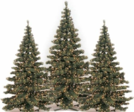 Scharnberger+Has. Tannenbaum m.LED D=155x210cm 63W 58518