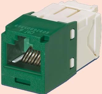 Panduit MINI-COM Modul Cat.6 RJ45 UTP grün CJ688TGGR