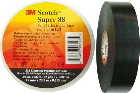 3M Deutschland Isolierband Super 88 38x33 sw