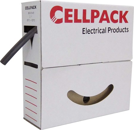 Cellpack Schrumpfschlauch in Abrollbox 10m SB 4.8-2.4 sw