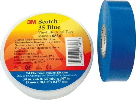 3M Deutschland Elektro-Isolierband 19mm x20m bl Scotch 35 19x20