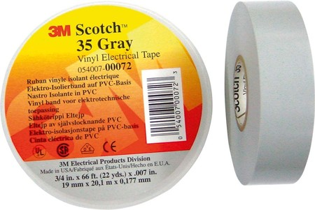 3M Deutschland Elektro-Isolierband 19mm x20m gr Scotch 35 19x20