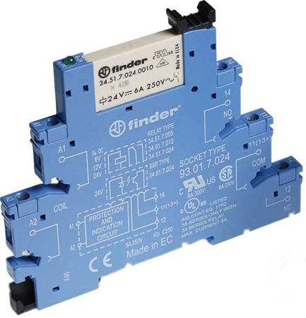Finder Koppelrelais 6,2mm 1W 24V DC 38.51.7.024.0050