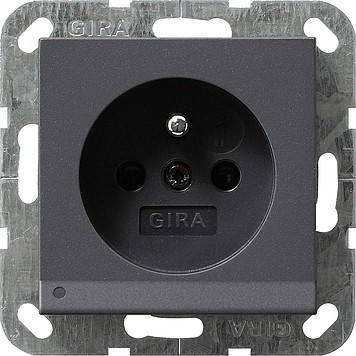 Gira Steckdose CEBEC anth mit LED-Beleuchtung 117228