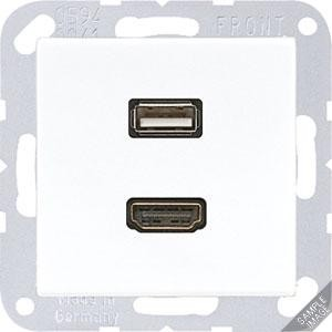 Jung Multimediadose HDMI + USB anthrazit matt MA A 1163 ANM