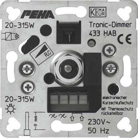 Peha Phasenabschnittdimmer 20-315W D 433 HAB o.A.