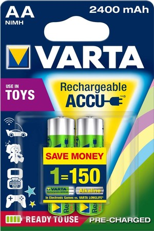 Varta Cons.Varta Toy Accu Ready2use AA 2400mAH NiMH 56786 Bli.2