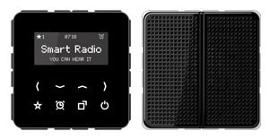 Jung Radio mit Display Set Mono schwarz RAD CD 518 SW