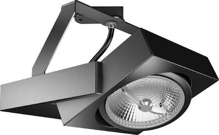 RZB Zimmermann 3Ph-Strahler sw LED-AR111 17W 741615.003