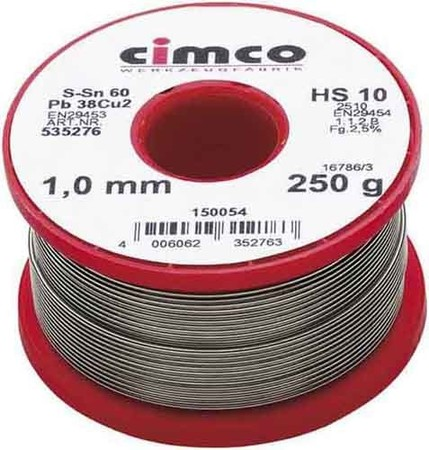 Cimco Elektroniklot 60% 1,0mm 1000g 15 0058
