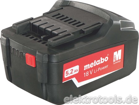 Metabowerke Akkupack Li-Power 18V 5,2Ah 625592000