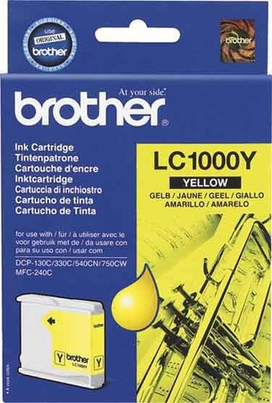 Brother LC LC1000Y - Tintenpatrone Original - 10 ml