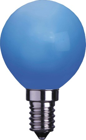 Scharnberger+Has. Deco-LED Kugelform 230V 0,5W E14 blau 33414