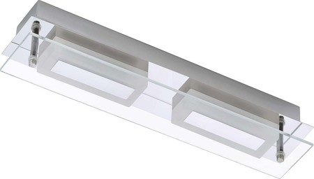 Briloner LED-Wandleuchte 2flg. 2x6 Watt chrom 2262-028