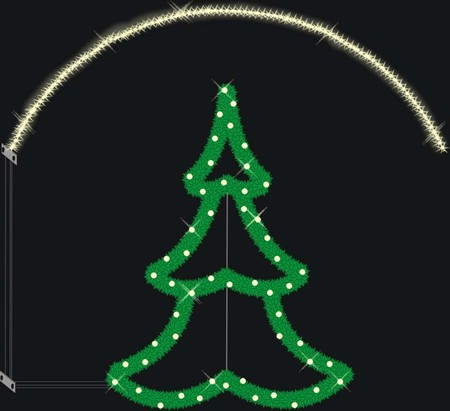 Scharnberger+Has. LED-Motiv Tannenbaum 120x130cm 58477