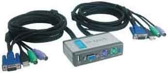 D-Link DKVM-2KU Tastatur/Video/Maus (KVM) Switch 2-Port KVM-Umsc