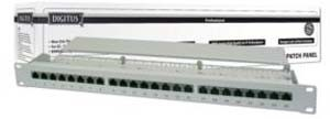 DIGITUS CAT 6 Class E 24-Port Patch-Panel - RAL 7035