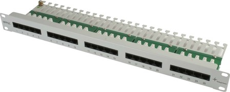 Telegärtner 25-port ISDN patch panel Cat.3 25-Port Patch-Panel -