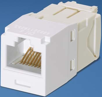 Panduit MINI-COM Modul Cat.6 RJ45 UTP weiss CJ688TGWH