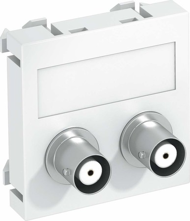 OBO Bettermann Multimediaträger Audio-BNC 45x45mm rws MTG-2BC F