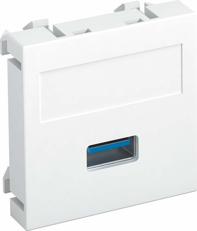 OBO Bettermann Multimediaträger USB 3.0A 45x45mm alu lackiert MT