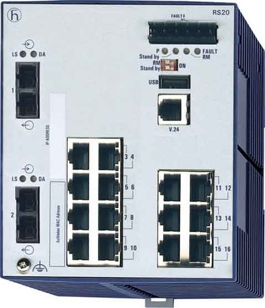 Hirschmann INET Ind.Ethernet Switch RS20-1600M2M2SDAP