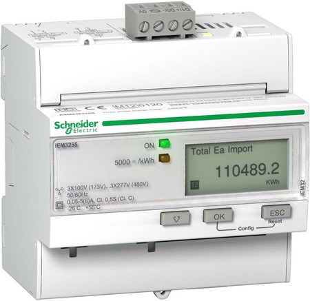 Schneider Electric Energiezähler IEM3255 3P+N 5A Modbus Mid A9ME