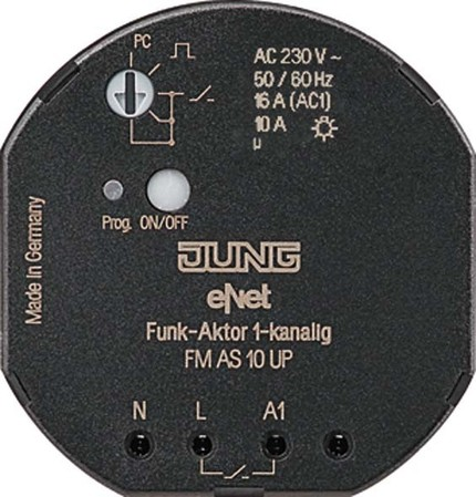 Jung Funk-Aktor 1-kanalig, UP FM AS 10 UP